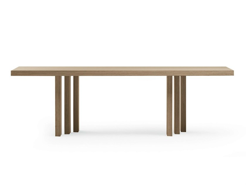 Wooden table H_T table by Poltrona Frau