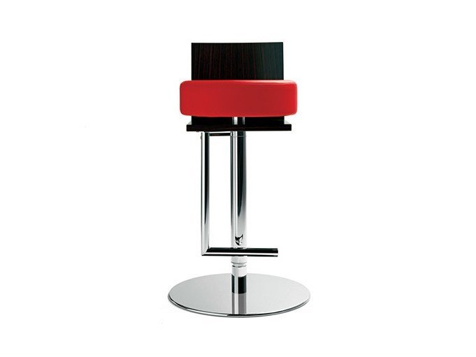 Stool with footrest LE SPIGHE by Poltrona Frau
