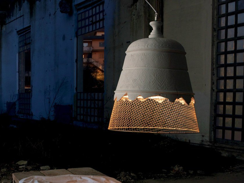 Plaster pendant lamp DOMENICA by Karman