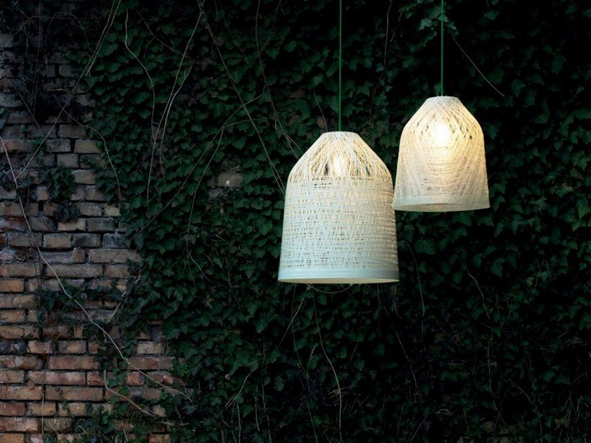 Cocoon resin pendant lamp BLACKOUT | Pendant lamp by Karman