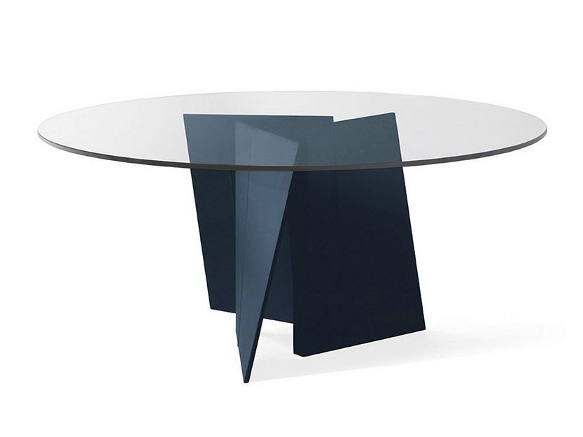 Round crystal table PALIO | Round table by Poltrona Frau