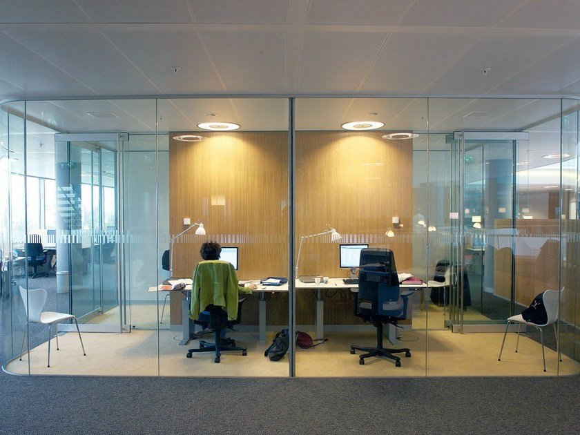 Glass office partition CLIP IN LIGHT by Glassolutions