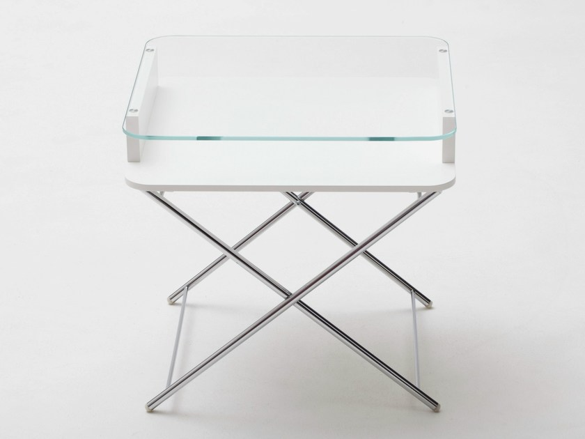 Rectangular glass and MDF coffee table AIR COSIMO by Adentro