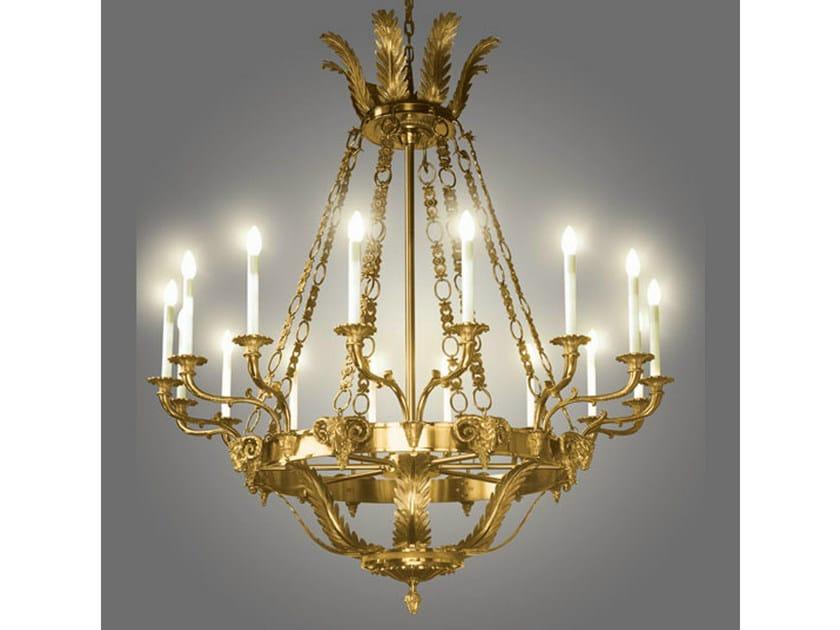 Bronze chandelier 17807 | Chandelier by Tisserant