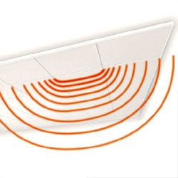Acoustic mineral fibre ceiling tiles HIGHTECH by Knauf Amf
