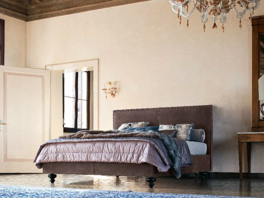 Fabric double bed with removable cover LUDWIG by Twils