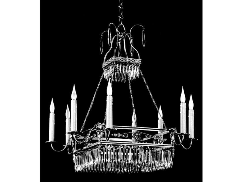 Bronze chandelier 19400 | Chandelier by Tisserant