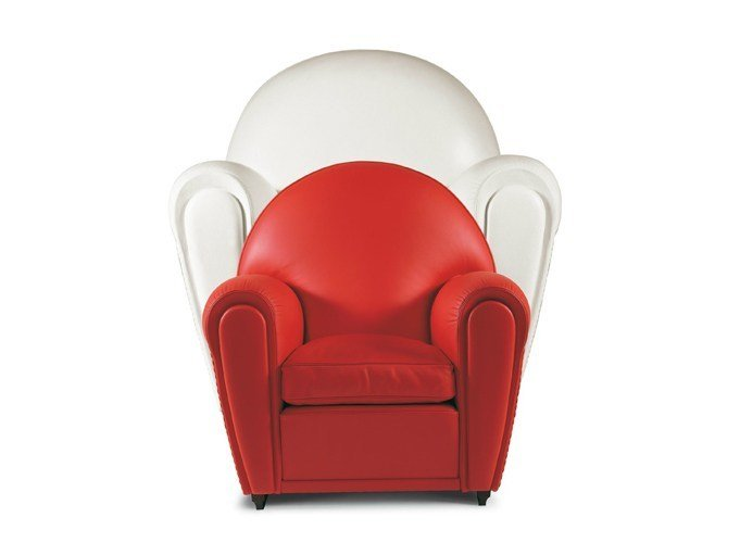 Club leather Kids armchair BABY VANITY FAIR by Poltrona Frau