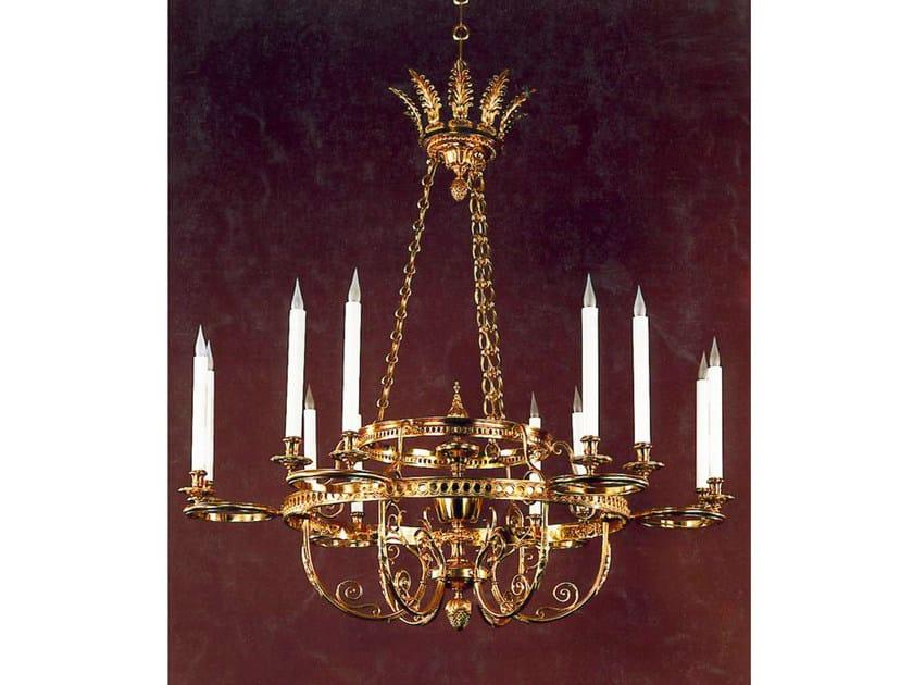 Bronze chandelier 19940   Chandelier by Tisserant