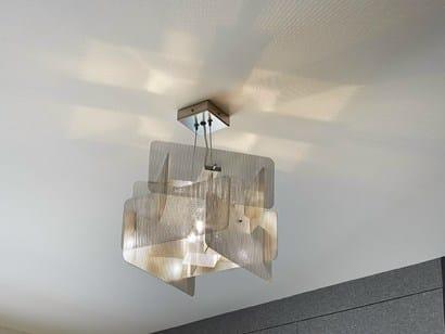 Stainless steel pendant lamp CUBE | Pendant lamp by Thierry Vidé design