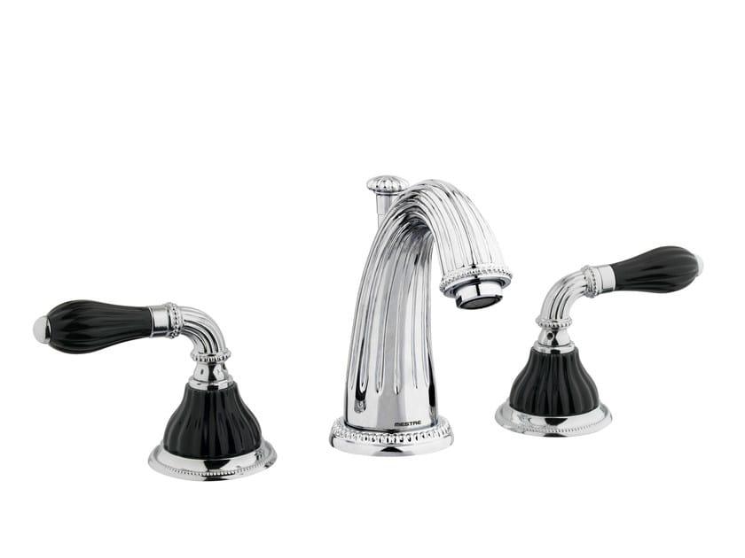 3 hole chrome-plated washbasin tap with polished finishing 233501.N000.50 | Washbasin tap by Bronces Mestre