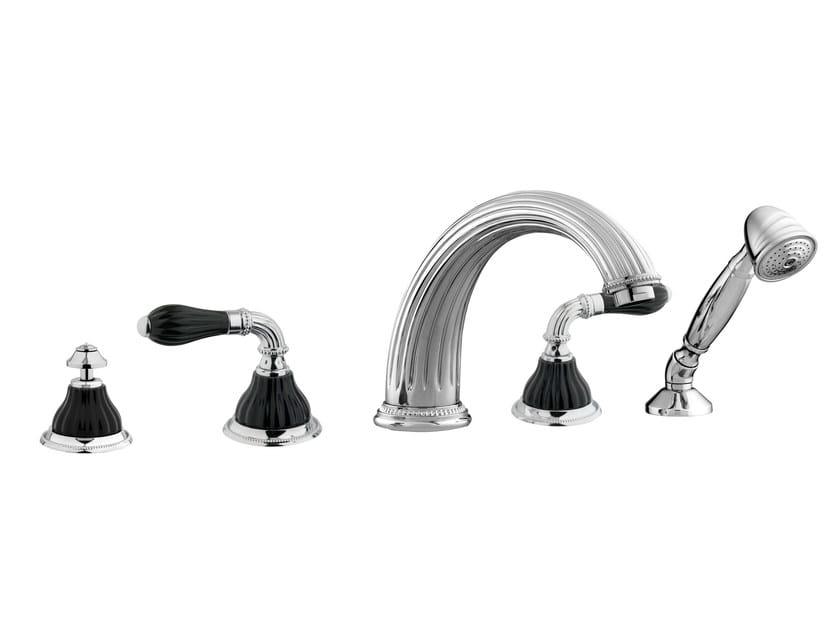 5 hole wall-mounted bathtub set 233516.N000.50 | Bathtub set by Bronces Mestre