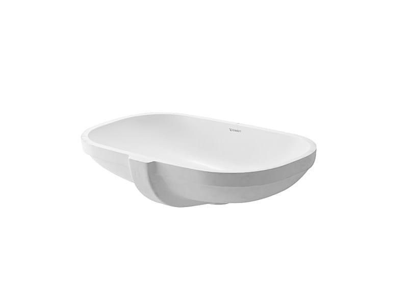 Fabulous D-CODE | Undermount washbasin By Duravit design Sieger Design QU71