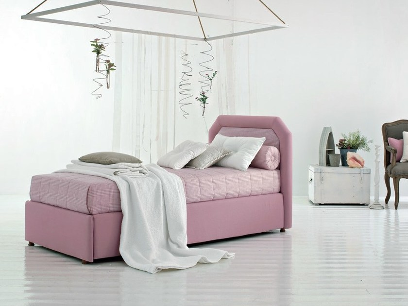 Upholstered storage bed CAMILLE by Twils