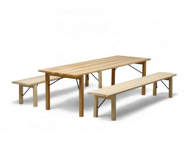 Folding rectangular wooden table ARKITECTURE TJP3 | Table by Nikari