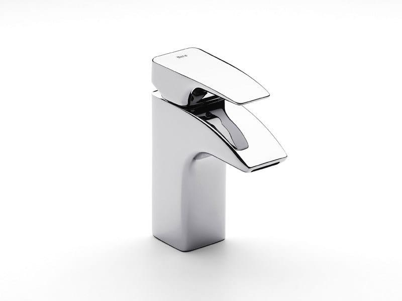 Chrome-plated 1 hole washbasin mixer THESIS   1 hole washbasin mixer by ROCA SANITARIO