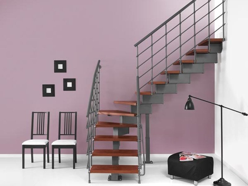 Open staircase in kit form MAGIA 90.XTRA by Fontanot