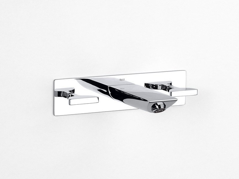 3 hole wall-mounted washbasin tap TOUCH | 3 hole washbasin tap by ROCA SANITARIO