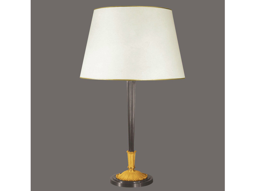 Bronze table lamp 482   Table lamp by Tisserant