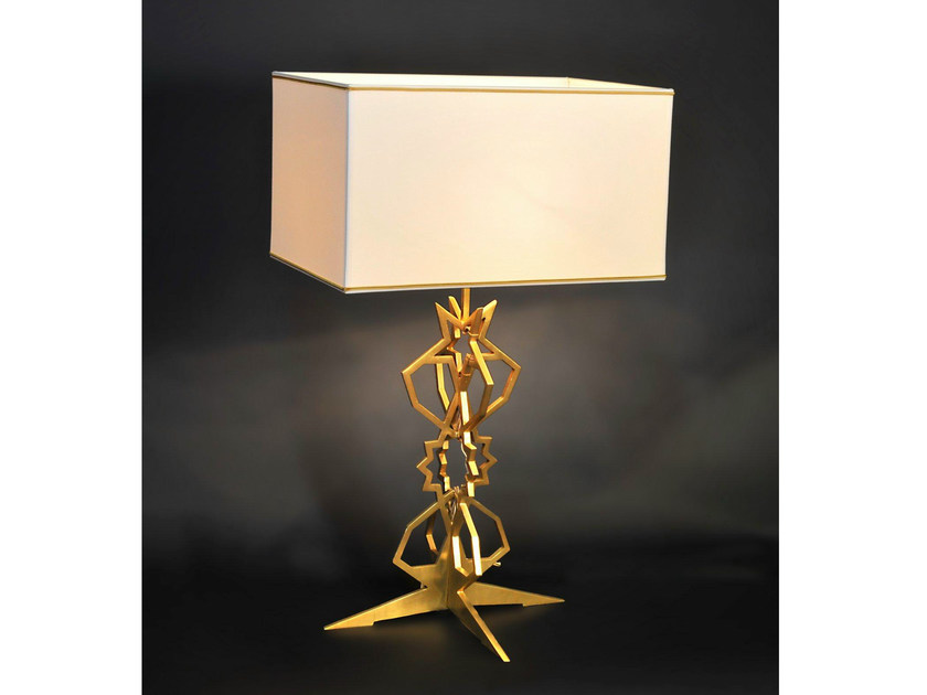 Bronze table lamp 841 | Table lamp by Tisserant