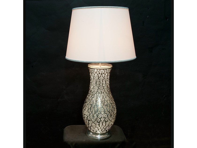Metal table lamp 873   Table lamp by Tisserant