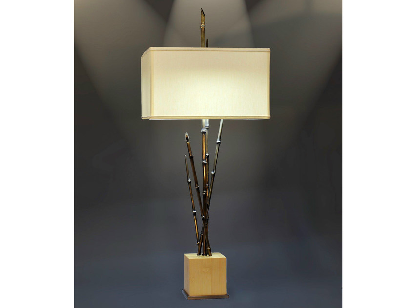 Bronze table lamp 890   Table lamp by Tisserant