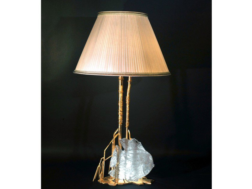 Bronze table lamp 910 | Table lamp by Tisserant