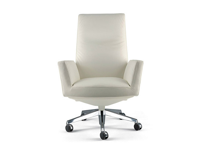 Executive chair with casters CHANCELLOR | Executive chair by Poltrona Frau