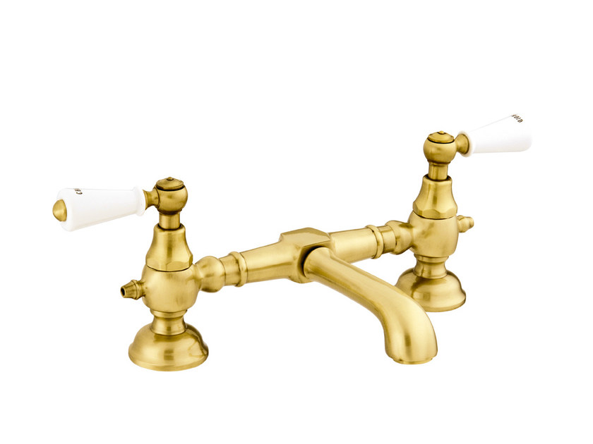 2 hole gold colour washbasin tap 035008.M00.30 | Washbasin tap by Bronces Mestre