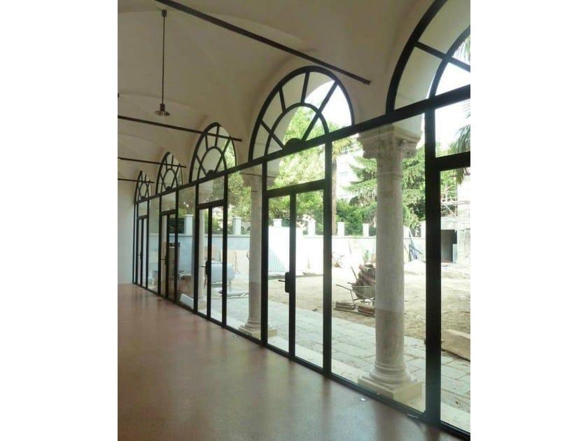 Porta-finestra a taglio termico in acciaio Corten™ MOGS 65® TAGLIO TERMICO COR-TEN | Porta-finestra a battente by Mogs