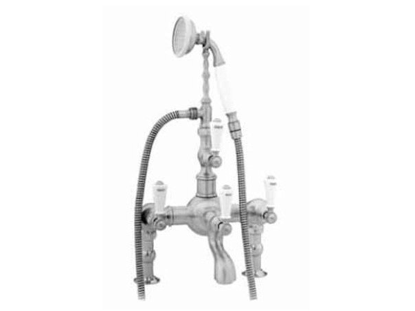 2 hole wall-mounted bathtub tap with hand shower 035011.M00.30 | Bathtub tap by Bronces Mestre