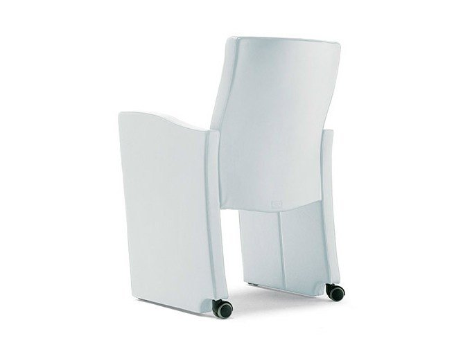 Easy chair with casters ONDA by Poltrona Frau