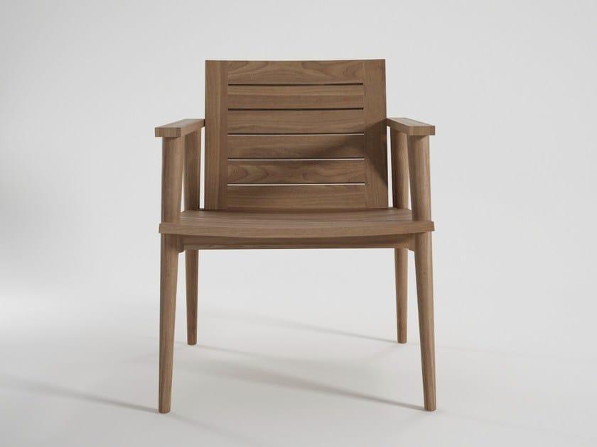 Teak garden armchair VINTAGE OUTDOOR | Easy chair by KARPENTER