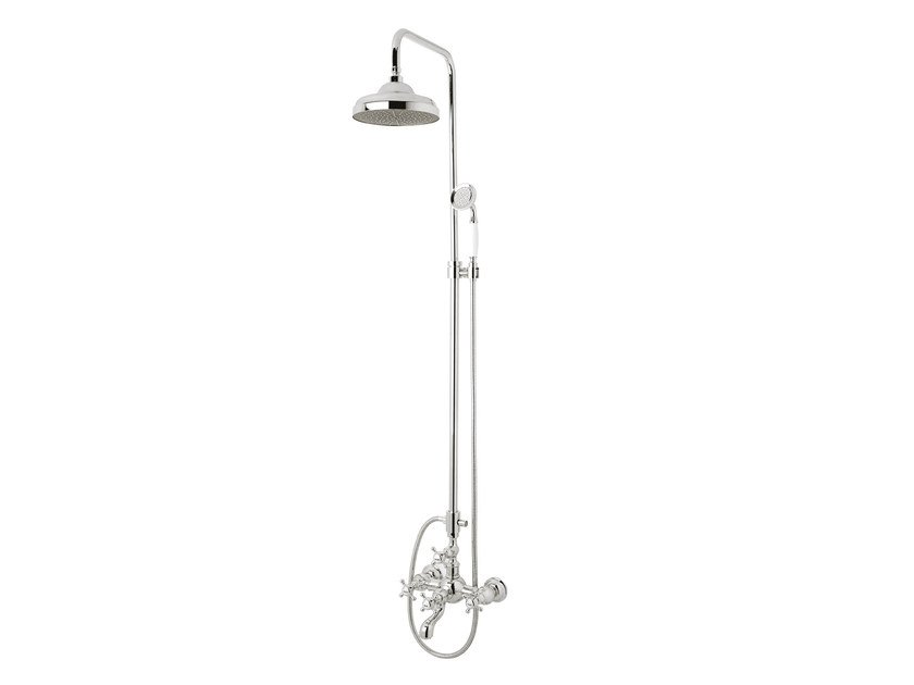 Wall-mounted shower panel with hand shower 035016.C00.50 | Shower panel by Bronces Mestre