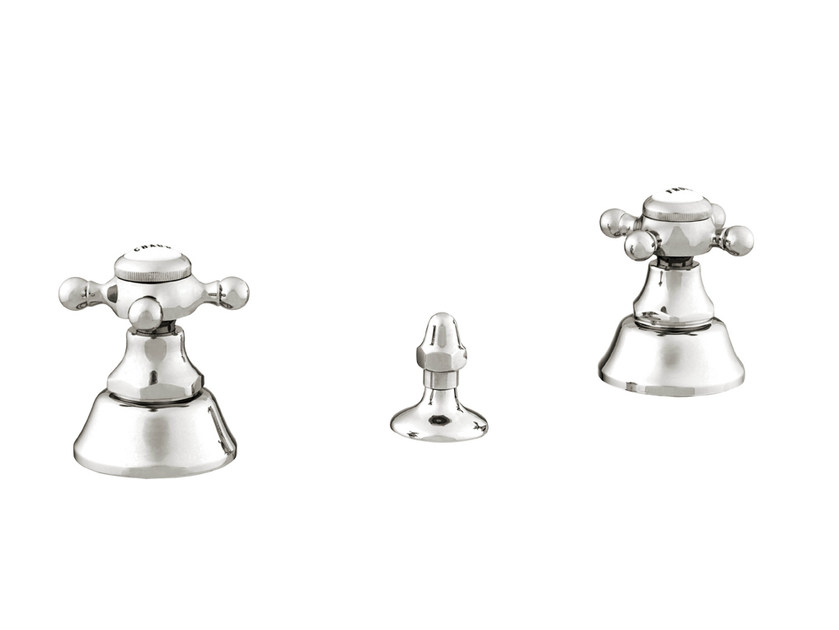 3 hole bidet tap with polished finishing 035022.000.50 | Bidet tap by Bronces Mestre