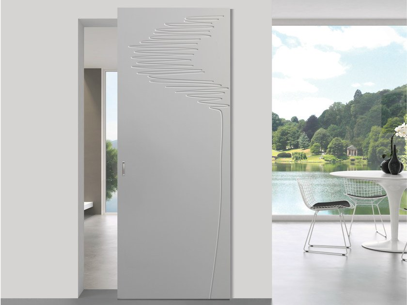 Lacquered sliding door NATURA PHANTHOM by Bertolotto Porte