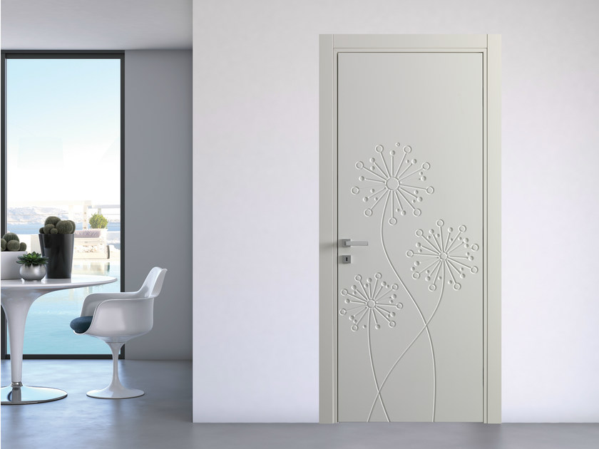 Hinged lacquered door natura tarassaco by bertolotto porte - Porte salvaspazio per interni ...