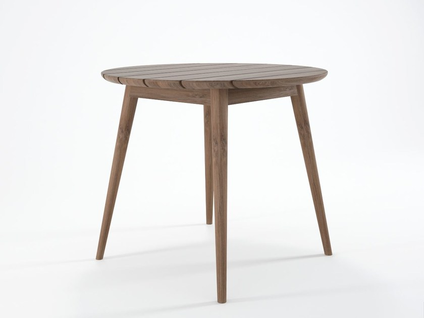 Round teak garden table VINTAGE OUTDOOR | Teak table by KARPENTER
