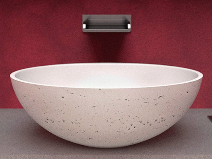 Countertop Teknoform® washbasin OVAL by Glass Design