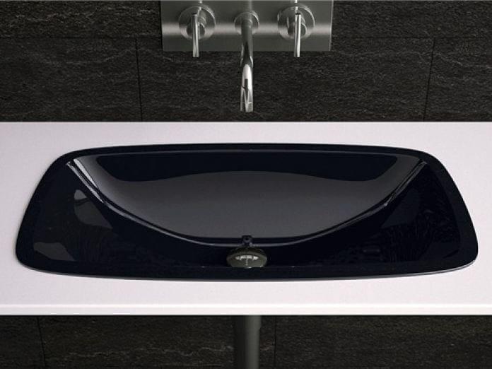 Undermount rectangular washbasin OPEN | Undermount washbasin by Glass Design