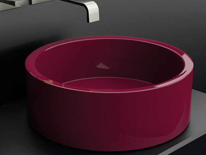Countertop stainless steel washbasin DE COSTE by Glass Design
