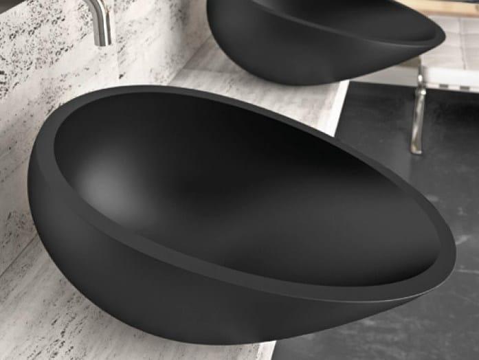 Countertop Vetro Freddo® washbasin AIR by Glass Design