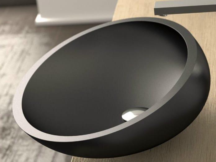 Countertop oval Vetro Freddo® washbasin KOOL MAX by Glass Design