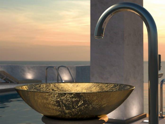 Countertop round washbasin CIRCUS 50 by Glass Design