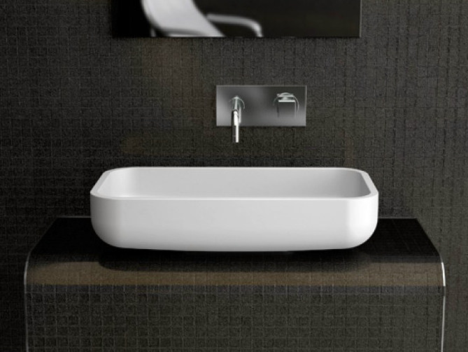 Countertop single washbasin JIMMY by Glass Design