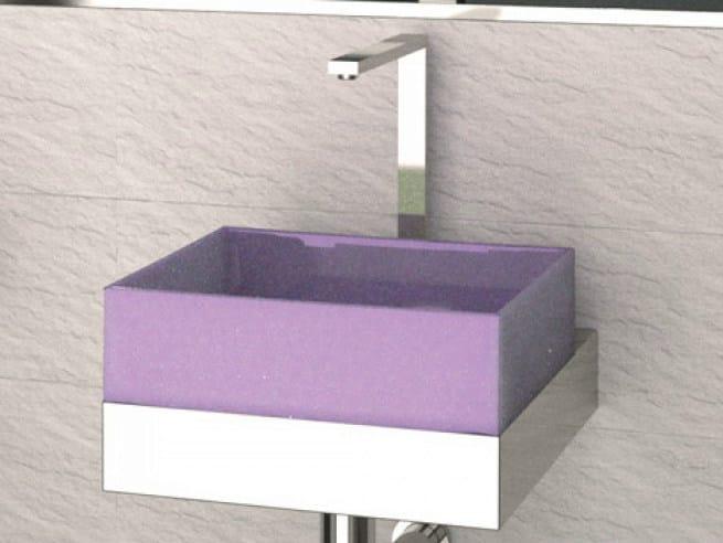 Countertop silicone washbasin GUM by Glass Design