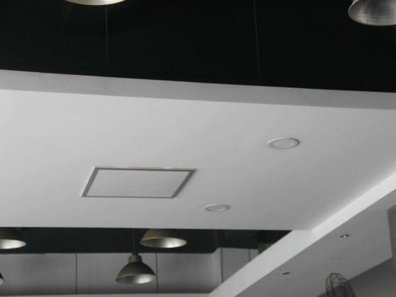 Infrared ceiling-suspended decorative radiator BUILT-IN by Infralia