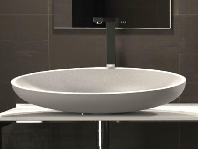 Countertop oval washbasin KOOL XL by Glass Design