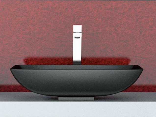 Countertop oval washbasin NET by Glass Design