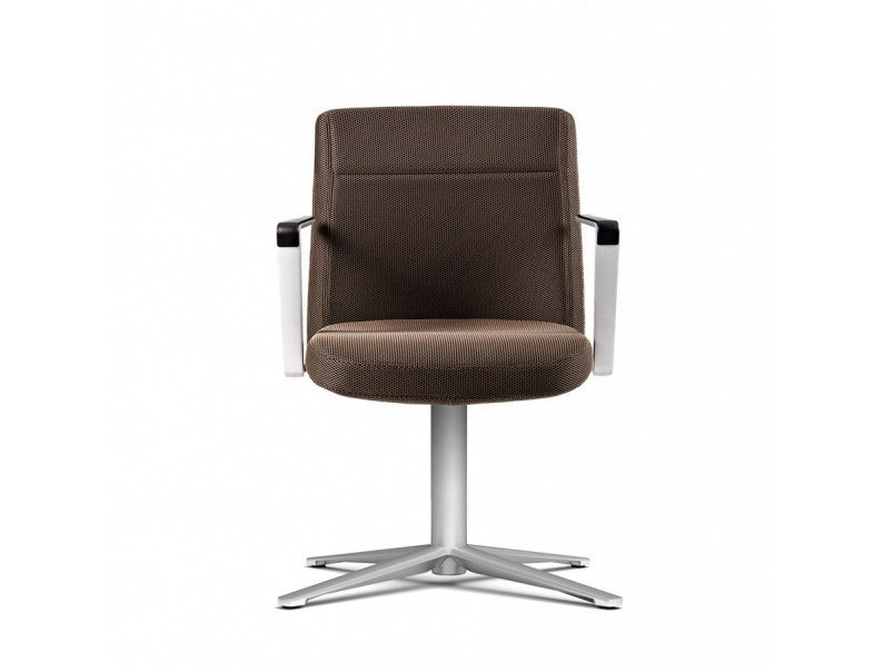 Height-adjustable task chair with 5-Spoke base with armrests CRON | Task chair by ACTIU